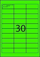 Rediform Colour Labels A4 Bx100 (30/sh) 64x25.4 Flouro Green