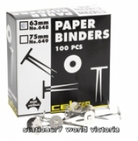 Celco 648 Paper Binders 63mm BX100