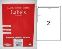 Rediform Labels Multipurpose A4 BX100 A4/2C (2/sh) 210x148