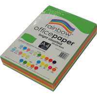 Rainbow Colour Copy Paper A4 80gsm Bright Asstd (ream-500sheets)