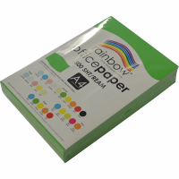 Rainbow Colour Copy Paper A4 80gsm Green (ream-500sheets)