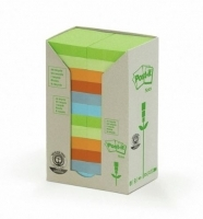 Post It Notes 653-RTP Recycled Tower Pastel PK24