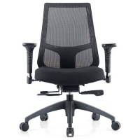 INSPIRE MESH BACK OFFICE CHAIR Black Fabric Seat+Adj Arms