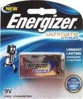 Energizer Ultimate Lithium Battery 9V Card of 1