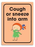Durus Hygiene Wall Sign - Cough or sneeze into arm
