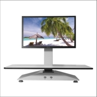 STANDESK ELECTRIC SIT STAND Workstation Single WorkSurface White