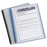 Cumberland Display Book Refillable A4 20Pocket Clear Front/Black