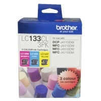 Brother Ink Cartridge LC133CL3PK Colour Pack (1 ea C M Y )