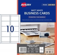 Avery Busines Cards L7415 PK100 Matt 150gsm