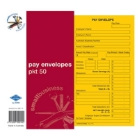 Zions Pay Envelopes SBE14 Gold Kraft Printed PK50