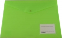 Osmer Doc Wallet A4 PP Button Closure+Name Pocket Lime Green