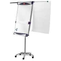 Nobo Piranha Mobile Magnetic Whiteboard/Flipchart Easel 1901920
