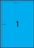 Rediform Colour Labels A4 Bx100 (1/sh) 210x295 Flouro Blue
