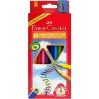 Faber Castell Junior Triangular Thick Colour Pencils BX10