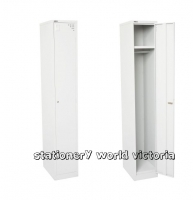 GO Steel Locker 1 Door (H)1830x(W)380x(D)455mm Silver Grey