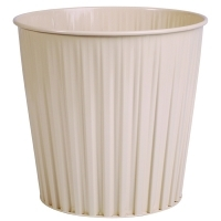 Esselte 30487 Elements Fluteline Metal Waste Bin 15L Beige