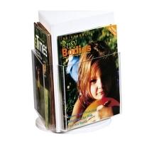 Deflecto Rotating Countertop Brochure Holder A4 White 592801