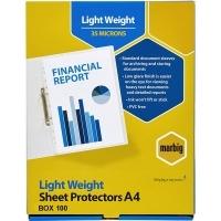 Marbig Sheet Protector Pockets A4 Copysafe BX100 25150