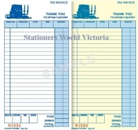Zions Restaurant Docket Book 22D 200x100mm Carbonless Dupl