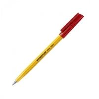 Staedtler Stick Ballpoint Pen 430F-2 BX10 Fine Red
