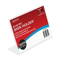 Deflecto Business Card / Place Card Holder Slanted 46301