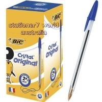 BIC CristaL Ballpoint Pens BX50 Med Blue