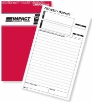 Delivery Docket Book Triplicate 8x5 Carbonless Impact SB324A
