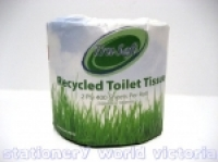 Toilet Roll Recycled 2ply 400sh Individually Wrapped BX48 4002R