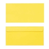 Quill Envelope 80gsm DL 110x220 Pack 25 - Lemon