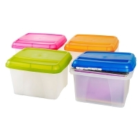 Crystalfile Porta Box Summer Colours 8008401 ClearBase/Blue Lid