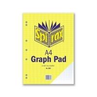 Spirax Graph Pad 802 A4 2mm 25Leaf T/O Pack 10