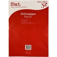 Stat Envelope 229x324 C4 PNS Kraft Pack of 25