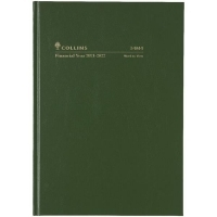 Collins 2021-2022 Financial Year Diary A4 Week 1Hr Green 34M4