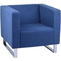RAPIDLINE ENTERPRISE RECEPTION CHAIR 1 Seater Lounge Blue Fabric