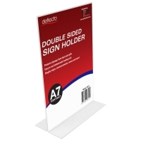 Deflecto Sign Holder Double Sided T-Shape A7 Portrait 46711