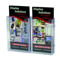 Deflecto Brochure Holder Wall Mount DL Linking 39512