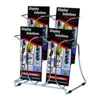 Deflecto Brochure Holder DL Chrome 2Tier 78445