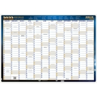 2022 Writeraze Framed Wall Planners 700x500mm Year View