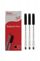 STAT Ballpoint Pens 1.0mm Medium BX12 Black
