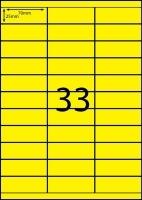 Rediform Colour Labels A4 Bx100 (33/sh) 70x25.4 Flouro Yellow