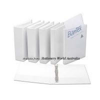 Bantex Insert Binder A4 3D 25mm (200page) White BX25 NO LABEL