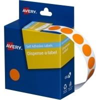 Avery Dispenser Label 14mm Orange BX1050