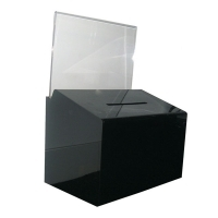Deflecto Ballot Box A5 Landscape 66602 Black