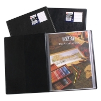 Rexel A4 Slimview Display Book 12pocket Black R10005BK