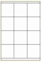 Custom Label 429 A4 BX100 12/sheet White70x70