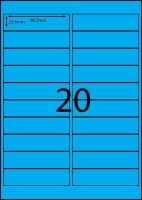 Rediform Colour Labels A4 Bx100 (20/sh) 98.7x25.4 Flouro Blue