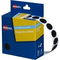 Avery Dispenser Label 14mm Black BX1050