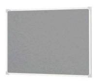 Quartet Penrite Felt Pinboard Grey 1200x900 QTNFF1209G