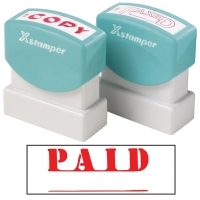 XSTAMPER STAMP - Paid (Red) with LIne 1221 (5012212)