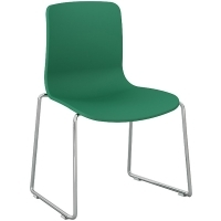 ACTI SC SLED BASE CHAIR Chrome Frame With Plastic Shell Teal
